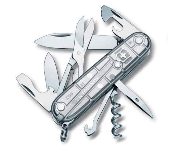Dolk - Victorinox Climber transparant schweizerkniv med saks og proptrækker